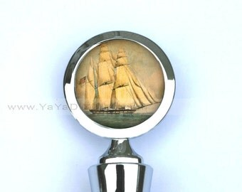 Unique Gift for him, Gift for father - Sailboat Wine Stopper Custom Wine Bottle Stopper -Unique gift ideas for him
