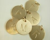 Initial Necklace - Initial Charm - Gold Initial Charm