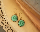 Turquoise Filigree Earrings Anthropologie Style