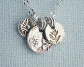 RESERVED for ELAINE Sweet triple-charm necklace