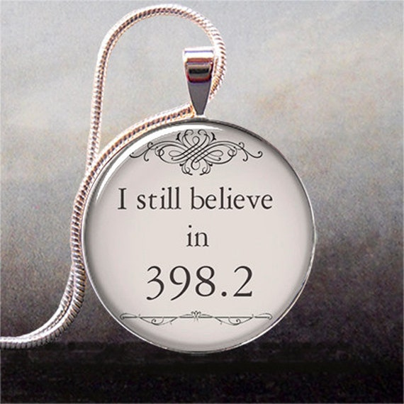 I still believe in 398.2 fairy tale necklace charm, book pendant, book jewelry, book jewellery