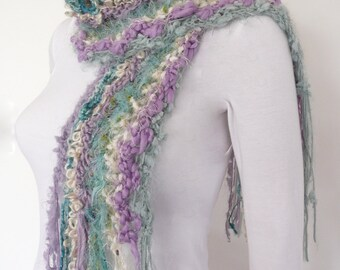 Hand Knitted Scarf Winter knit scarf