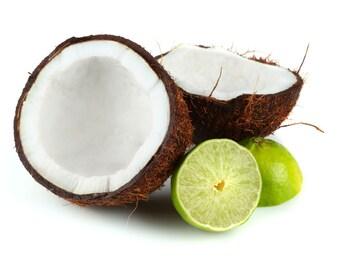 SHOWER GEL ~ Coconut Lime Verbena type Body Wash Shower Gel Bubble Bath 8 oz Bottle ~ Coconut Lime Scented Shower Gel