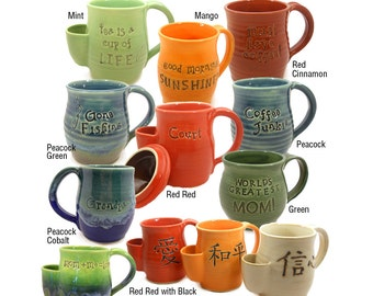 Personalize Your Custom Made Pottery - Birthday Wishes - Anniversaries - Made to Order