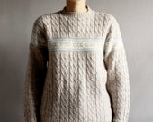 1970's cable knit ski sweater