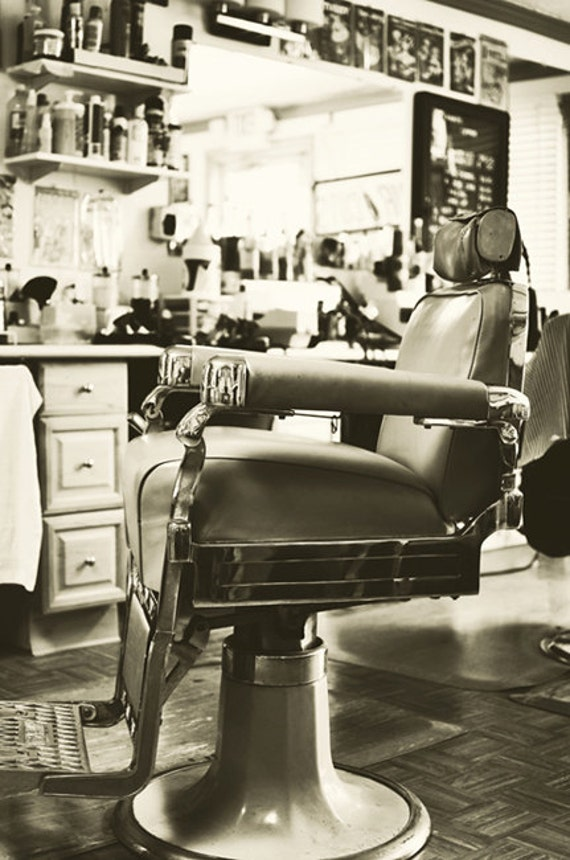 Items similar to Barber Shop Decor - Vintage Barber Chair ...