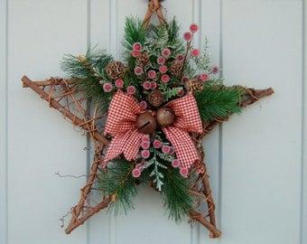 Christmas Wreath -  Holiday Door Wreath, Christmas Holiday Wreath