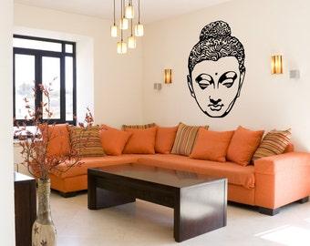 Vinyl Wall Decal Sticker Hindu Head Statue OSMB518s