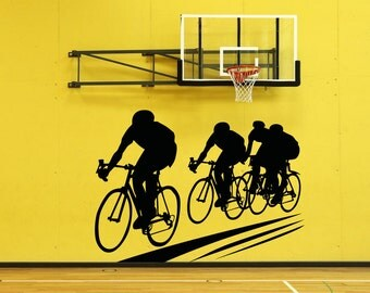 Vinyl Wall Decal Sticker Cyclists OSAA697s