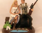 Special order - Fishing Hunting Shopping Western cowboy boots Wedding Cake Topper