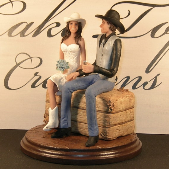Cowgirl Wedding Ideas: Items Similar To Country/Western Wedding Cake Topper