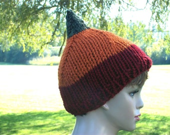 Pixie Hat Women Red Orange Green Elf Beanie