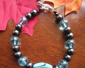 Turquoise and Black Bracelet