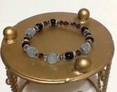 Gorgeous bracelet: garnets Swarovski crystal stretch bracelet