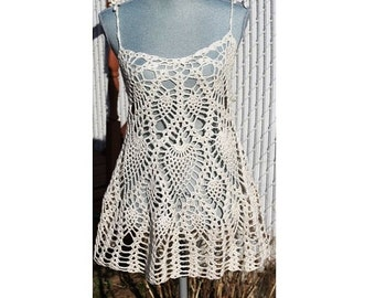 Crochet Layer Dress or Bathing suit  Cover Up  Made to order in any size and color
