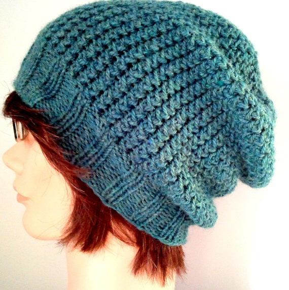 Slouchy Toque Knitting Pattern : KNITTING PATTERN // PDF instant download // worsted weight