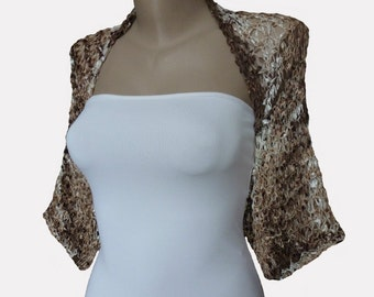 Knit  Bolero Shrug Sleeve Wrap, Multicolor,  Weddings Bridal Bridesmaid Women, Holiday Accessories Evening dress, Cover up