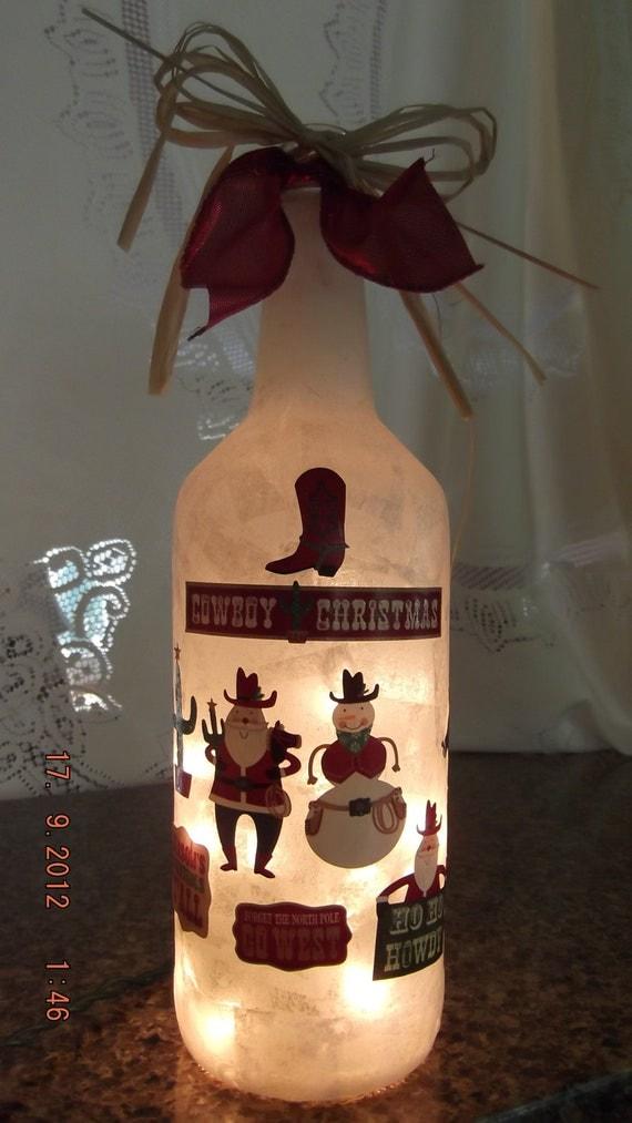 Snowman Cowboy Lamp