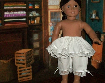 American Made 18inch Doll Historical Petticoat and Pantelettes