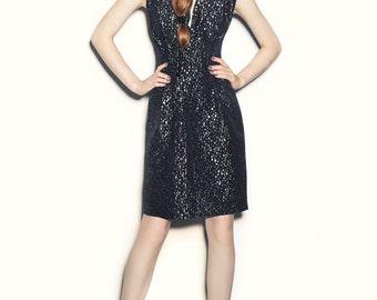 Metallic Dots Dress