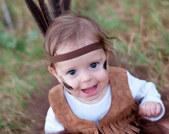 Special listing for Chrissy 2 indian feather headbands, 1 boy and one girl headband