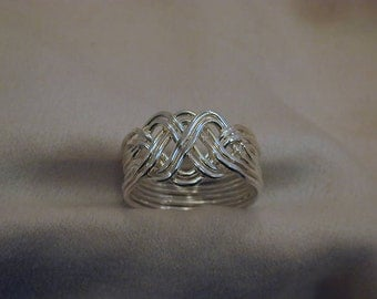 8 Pc. Regular Puzzle Ring Sterling Silver