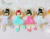 Ballerina sculpture ribbon hair clip / ballet hair clip / barrette / girl hair clip / baby hair clip - Personalize your own