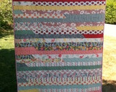 SALE Modern patchwork quilt