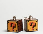 Mario Question Mark Block Earrings. SALE!