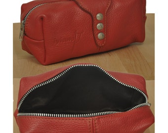 Large handmade leather case, named Lilly MADE TO ORDER