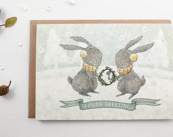 50% OFF - Christmas Cards - Season's Greetings - 10 Greeting Cards