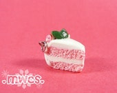 Peppermint Cake Charm, Christmas Charm, Christmas Cake Charm, Holiday Cake Charm
