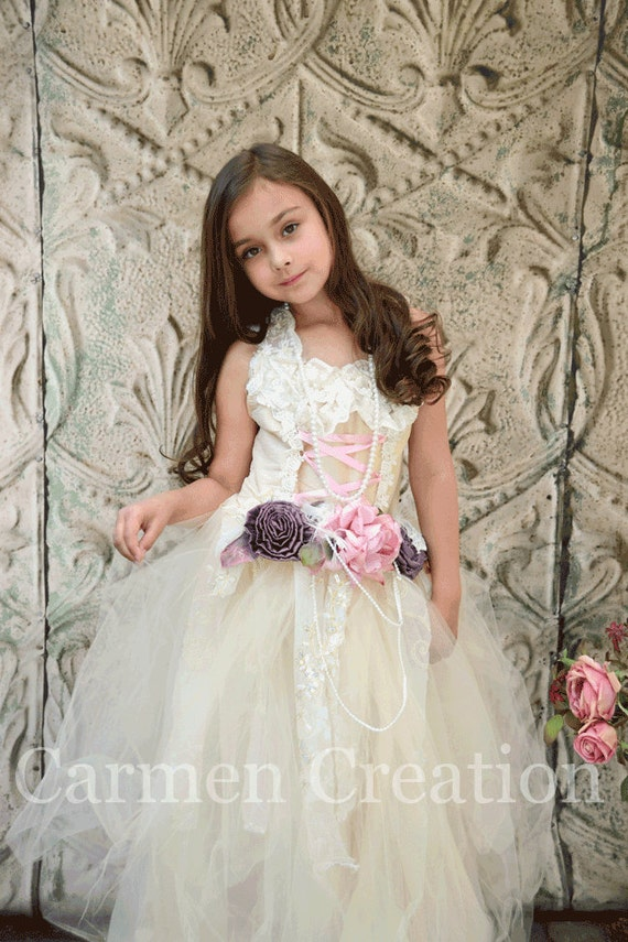 Items similar to Flower Girl Dress - Victorian Flower Girl Dress ...