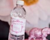 DIY Printable Water Bottle Labels - Cirque du Bebe Elephant Baby Shower