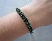 Half Persian 3 in 1 Chain Maille Bracelet in Green and Black