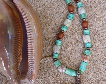 SALE!!  Turquoise and Copper Sea Star Necklace
