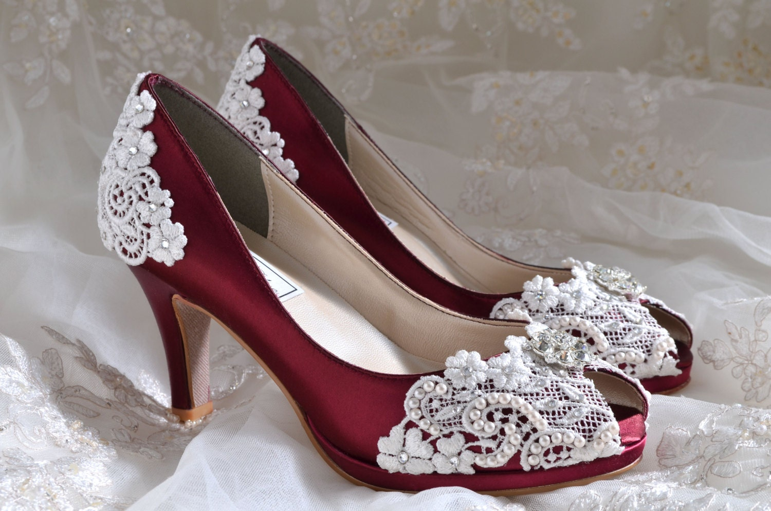 Wedding Shoes Lace Wedding Heels PB826A Vintage Wedding