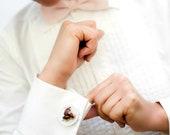 Food Jewelry: Chocolate Puff - Profiteroles Cuff Links - Polymer Clay Miniature Food - Groomsmen Gift