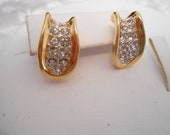 Vintage earrings, crystal earrings, bridal earrings, wedding earrings, stud earrings