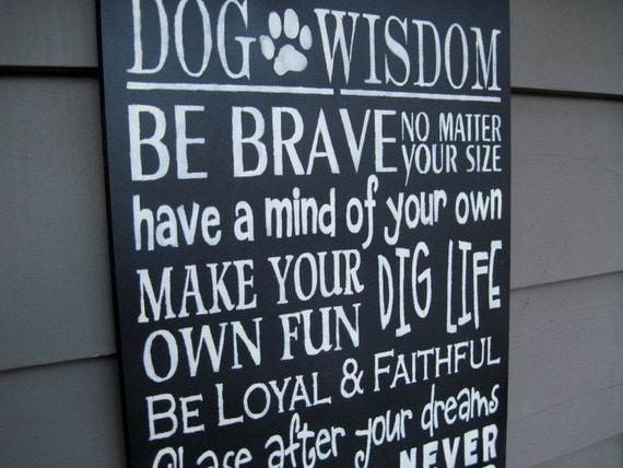 Kennel Grooming Shop DoG WisDom, TypOgraphy, Subway ArT, Hand PaInTed SigN, PriMitive Sign Pet Lover