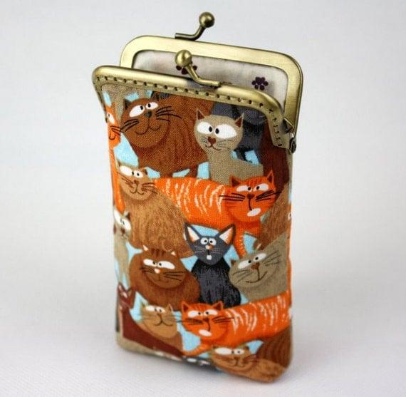 iPhone 6 Case Cats Fabric, iPhone 6 Plus Case, iPod Case, iPod Touch Case, Cell Phone Case, Cotton Fabric