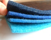 wool Polyester blend felt set, thickness 3mm,100cm x100cm,choose your color from 17 colors,