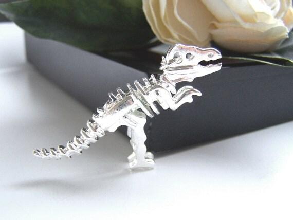 Silver Dinosaur Necklace