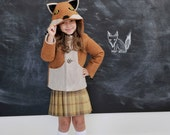 Children's Fox Coat// Girls Winter Coat// Handmade Children's Clothing// Eco-Friendly Kids' Outerwear