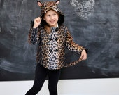 Girls Spotted Leopard Coat