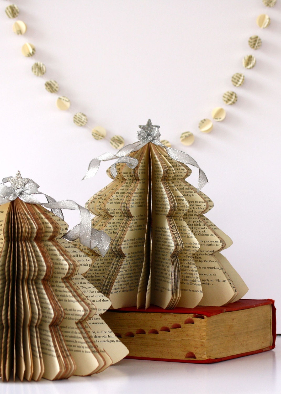 Vintage book christmas tree size small made to order for Christmas tree made from old books