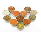 BBQ rub gift set with recipes - 8 seasonings for grilling and barbecue