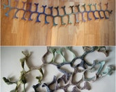 PDF pattern for Crochet Scarf Lariat 'Curly Bone Branches'  asymmetrical fiber art neck piece