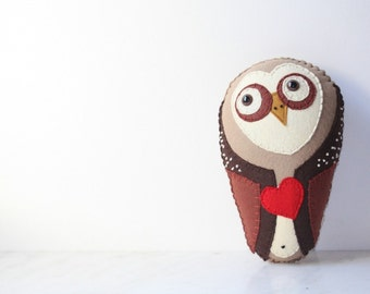 Felt Plush Stuffed Barn Owl Animal