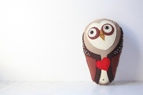 Felt Plush Stuffed Barn Owl Animal Toy